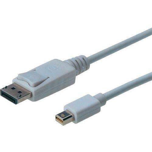 Kabel DisplayPort Digitus AK-340102-030-W, [1x złącze męskie DisplayPort - 1x złącze męskie mini-DisplayPort], 3 m, biały