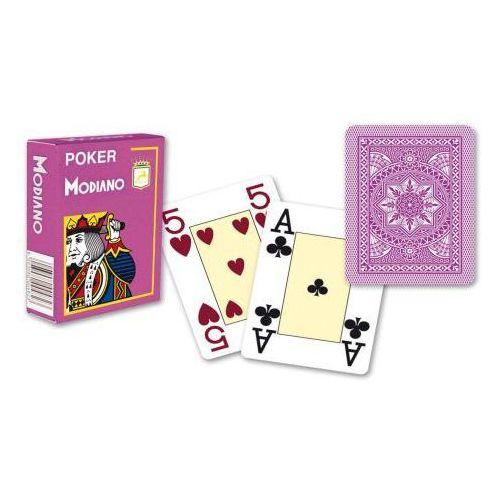 4 rogi 100% karty z plastiku - fioletowe marki Modiano