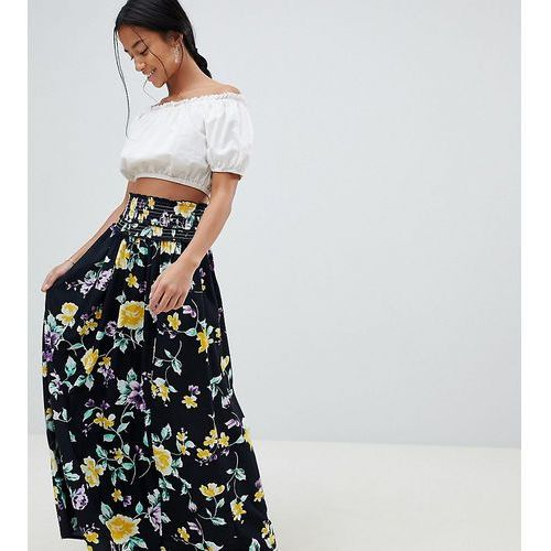 Asos petite Asos design petite maxi skirt with shirred waist in floral print - multi