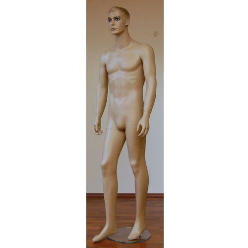 Manekin postaciowy - męski (GH13), w kolorze cielistym.