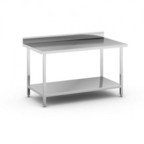Stół roboczy ze stali nierdzewnej z półką, 1500 x 800 x 850 mm marki B2b partner