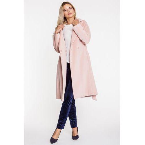 Łososiowy długi płaszcz z kaszmirem - Patrizia Aryton