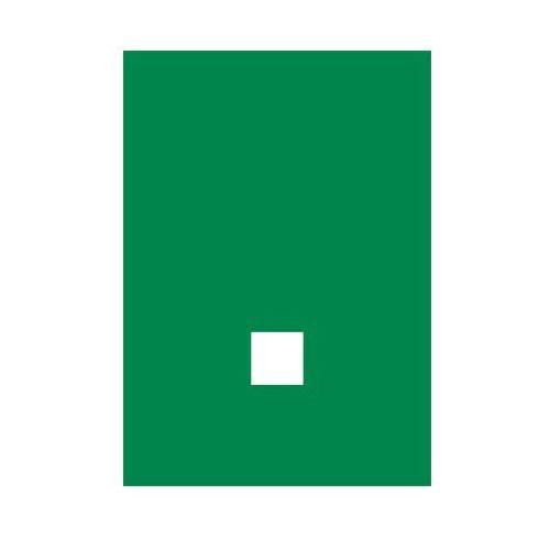 Kropka (biały/zielony) - produkt z kategorii- Znaki informacyjne i ostrzegawcze