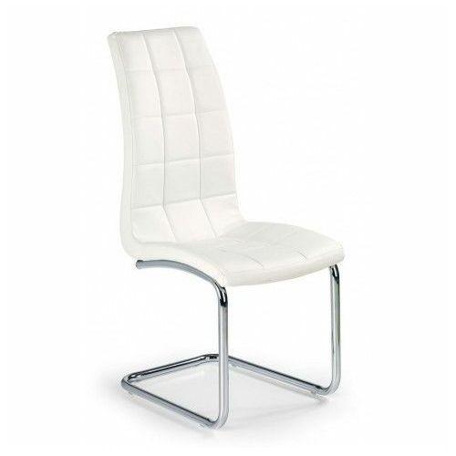 Stylowe krzesło pikowane Anthony - Biały, kolor biały