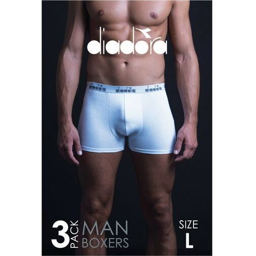 Diadora bokserki męskie białe 3pak7w40ak
