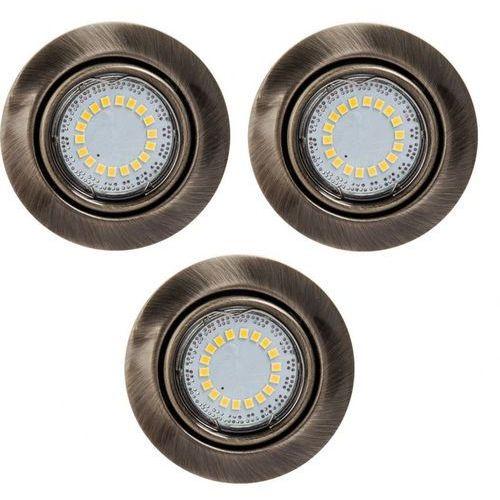 Zestaw opraw stropowych cristaldream 2301311 patynowy marki Spotlight