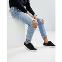 Cheap Monday Sonic Slim Jeans with Blown Out Knee - Blue, kolor niebieski