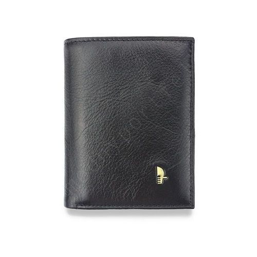 Portfel męski skórzany czarny 7825p - czarny marki Puccini