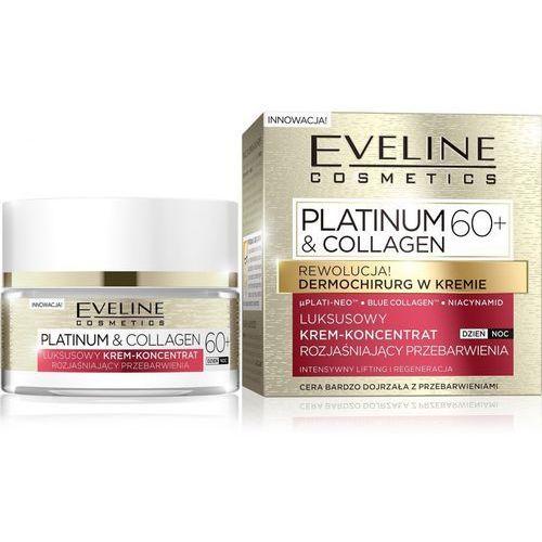 Eveline Platinum & Collagen 60+ Krem-koncentrat rozjaśniający przebarwienia na dzień i noc 50ml (5901761967807)