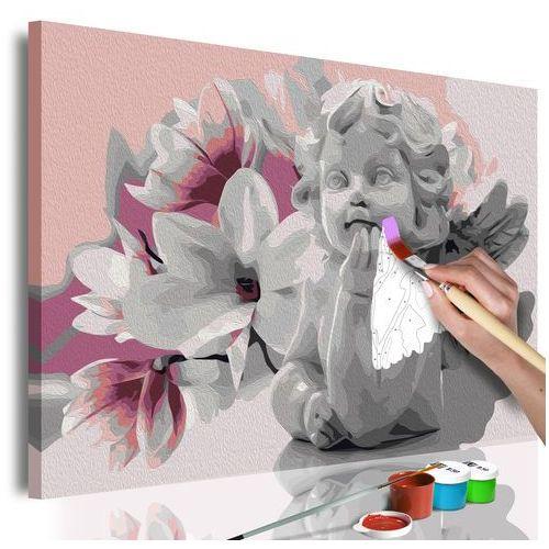 Obraz do samodzielnego malowania - Marzenia aniołka bogata chata, A0-MA_0154