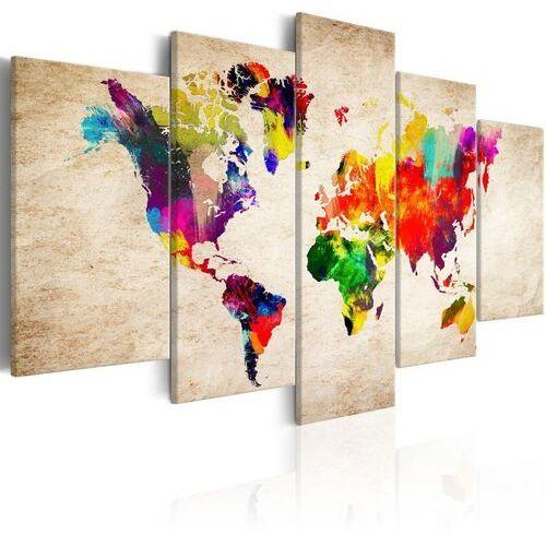 Obraz - mapa świata: abstrakcyjna fantazja marki Artgeist