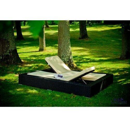 Technorattanowe łóżko ogrodowe UMILE szare, LO.003.007.SZ