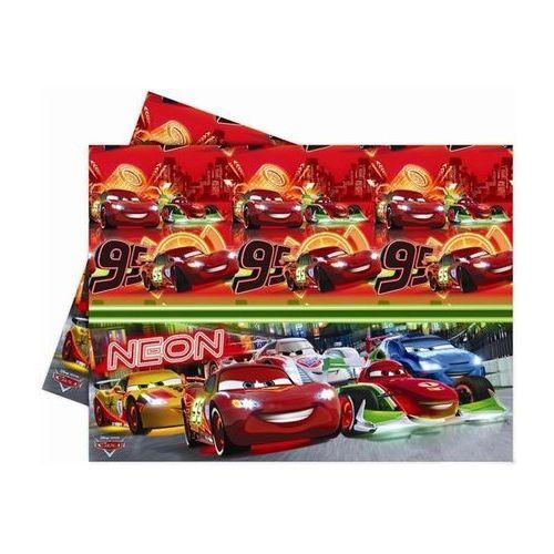 Obrus urodzinowy Cars Neon - 120 x 180 cm - 1 szt., towar z kategorii: Dekoracje i ozdoby dla dzieci