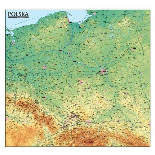 Polska mapa ogólnogeograficzna (2016)