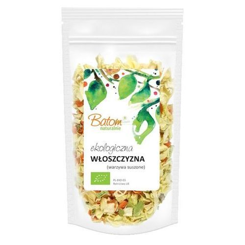 Polskie warzywa suszone bio (włoszczyzna - marchew, pietruszka, por, seler, cebula) 75g marki Batom