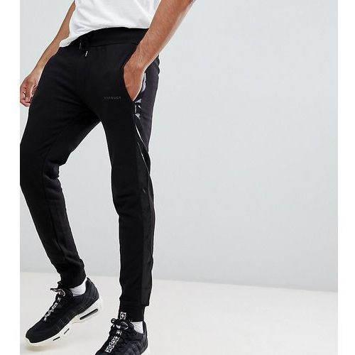 D-Struct TALL Jogger With Satin Leg Stripe - Black