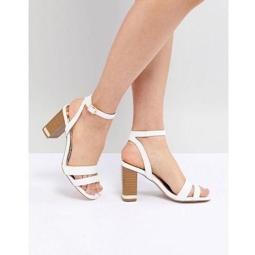 River Island Bearley There Block Heel Sandals - White, kolor biały