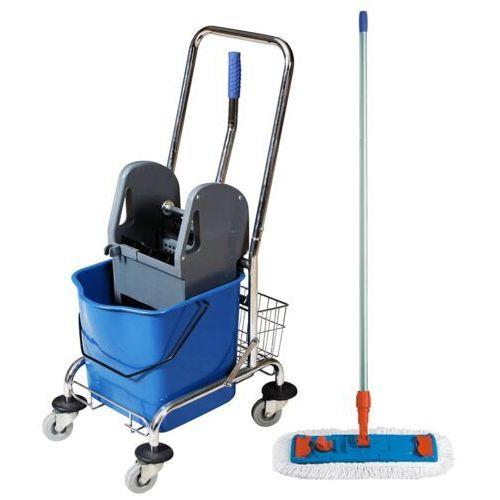 Wózek jednowiaderkowy z prasą 23 litry niebieski marki Clean
