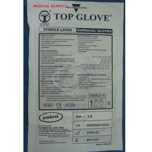 Rękawice Chirurgiczne sterylne 7,5/5par Top Glove, 25-11-12