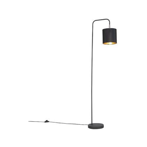 Qazqa Nowoczesna lampa podłogowa czarna - lofty