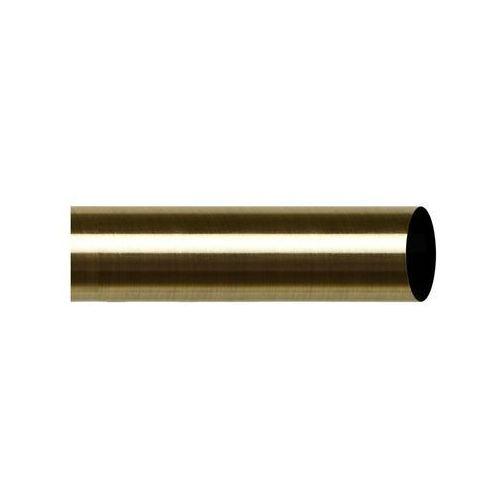 Drążek do karnisza 160 cm antyczny mosiądz 25 mm metalowy INSPIRE (5901171246783)