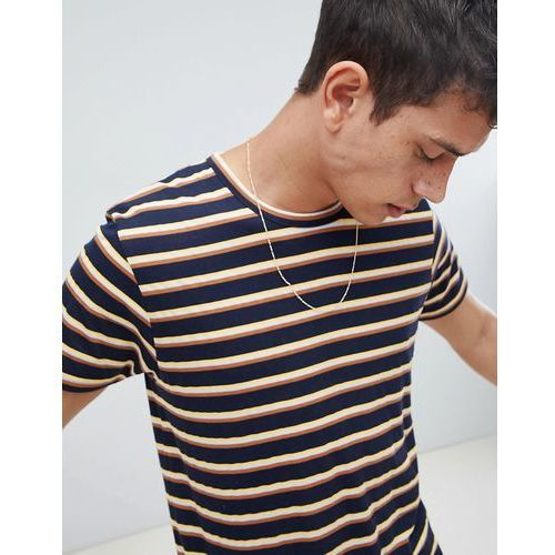 Bellfield T-Shirt With Vintage Stripe - Navy, w 2 rozmiarach