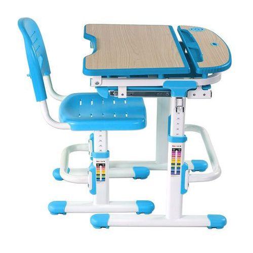 Fundesk Sorriso blue - ergonomiczne, regulowane biurko dziecięce + krzesełko - złap rabat: kod30