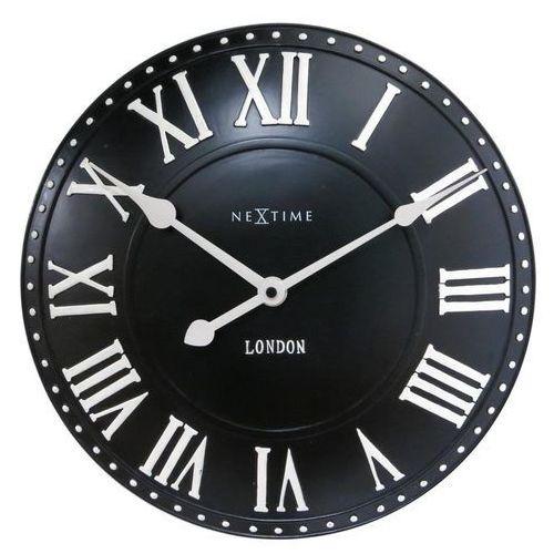 Zegar ścienny Nextime London Roman czarny (3083 ZW), 3083zw