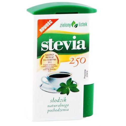 Stevia stewia słodzik tabletki pastylki 250szt - zielony listek wyprodukowany przez Zielony listek domos