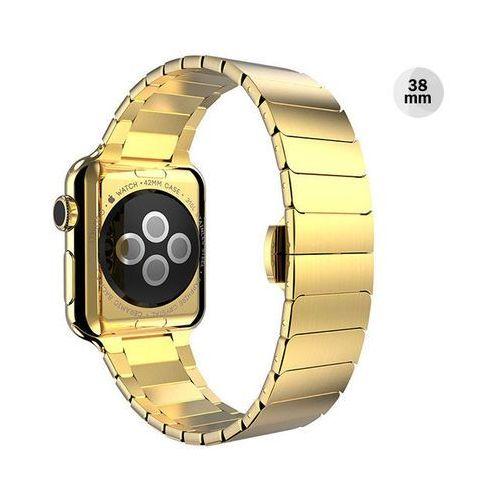 ZŁOTA Elegancka bransoleta/pasek do Apple Watch Lock Loop 38mm CZARNA - Złoty