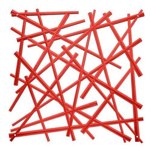 Koziol Panel dekoracyjny stixx - 4 sztuki w komplecie - kolor czerwony,
