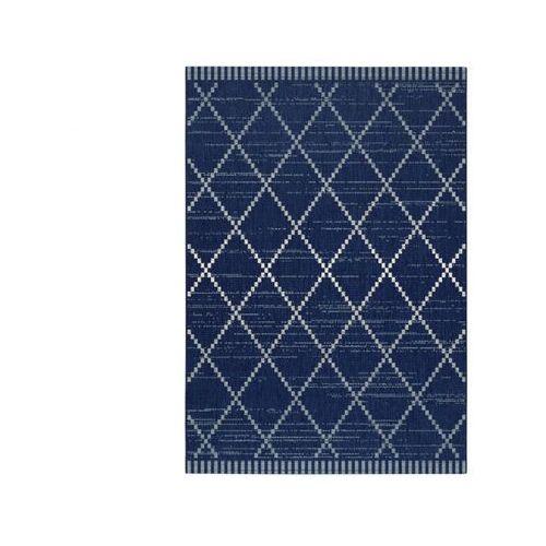Vente-unique Dywan do wewnątrz i na zewnątrz atome - polipropylen - 200 x 290 cm - niebieski denim