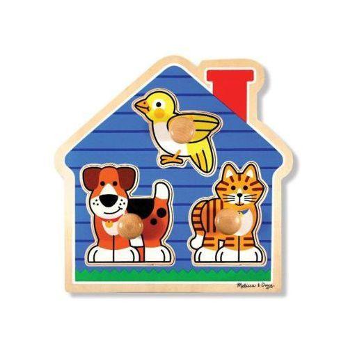 Puzzle zwierzęta domowe MELISSA & DOUG Large Peg 12055 (0000772120555)