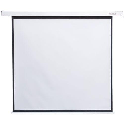 elektryczny ścienny/sufitowy ekran projekcyjny z pilotem 186x105 (16:9) matt white darmowa dostawa do 400 salonów !! marki 4world
