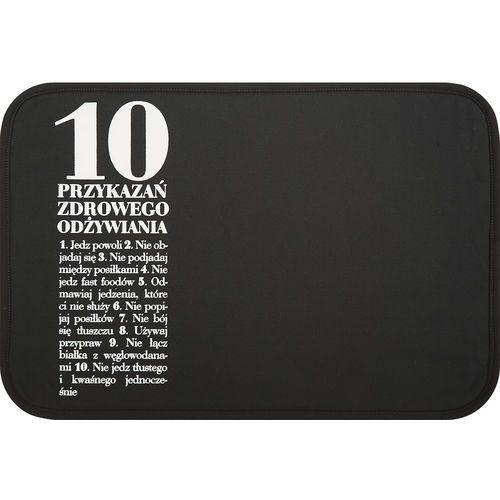 Podkładka pod talerz anna lewandowska 10 przykazań czarna marki Healthy plan by ann