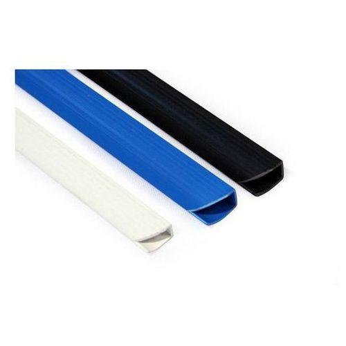 Listwa wsuwana do oprawy dokumentów, standard 15mm, biały, opakowanie 50 szt.