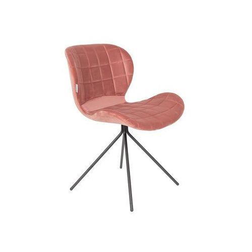 Zuiver Krzesło OMG VELVET różowe 1100364, 1100364