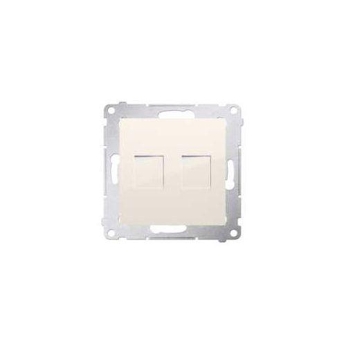 Kontakt-simon Pokrywa gniazd teleinformatycznych simon 54 dkp2.01/41 keystone płaska podwójna kremowa (5902787824440)