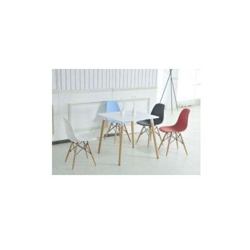 """Zestaw 4 krzeseł """"monza""""- czarnych z bukowymi nogami marki Pozostali"""