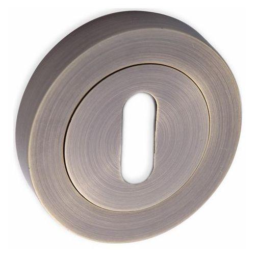 Szyld drzwiowy krótki okrągły na klucz patyna marki Kuchinox