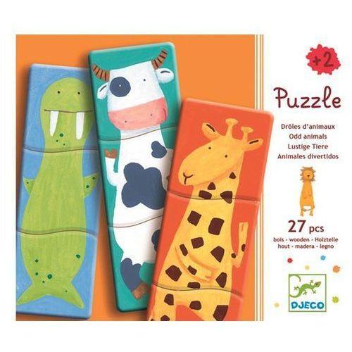 , zwierzaki, puzzle drewniane, 27 elementów marki Djeco