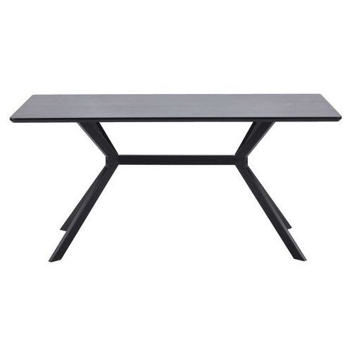 stół bruno czarny 160x90cm mdf 377219-z marki Woood