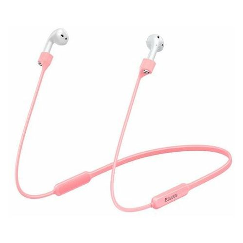 Baseus sports collared | opaska pasek do słuchawek apple airpods 1/2 | różowy - różowy (6953156297579)