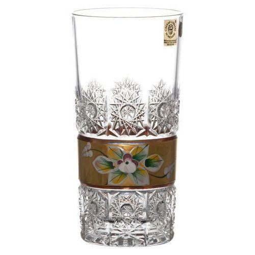41743 Szklanka Złoto, szkło kryształowe bezbarwne, objętość 350 ml