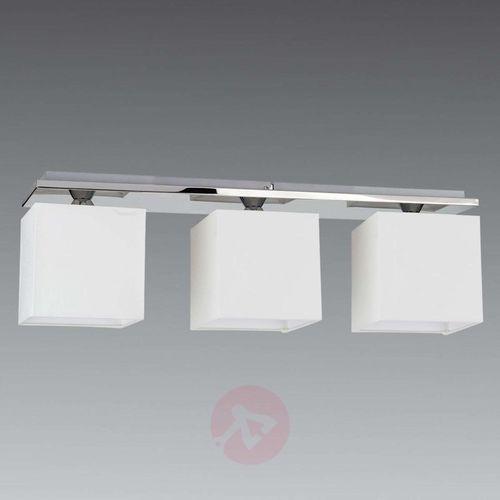 Spot-light 3-punktowa lampa sufitowa rivoli, klosz z chintz