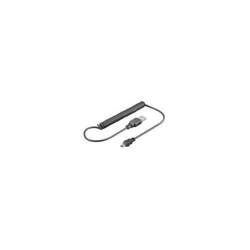 Goobay Spiralny kabel mini usb 1m 48968