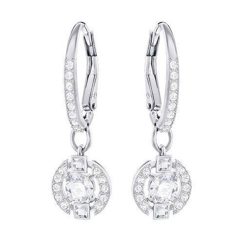 sparkling dance round pierced earrings, white white rhodium-plated od producenta Swarovski