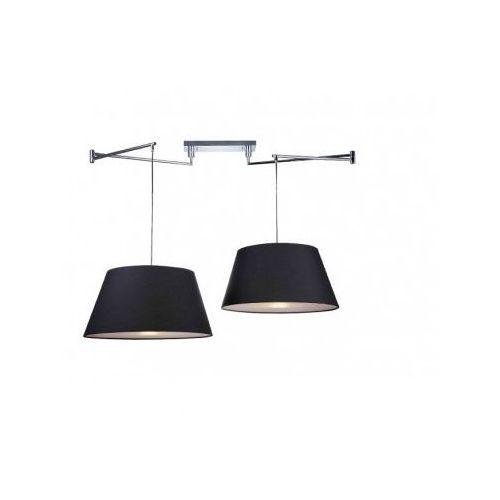 Lampa wisząca zwis Azzardo Natalia 2 S 2x60W E27 czarna MD2238-2S-BK, MD2238-2S-BK