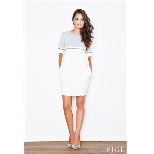 Sukienka model 400 grey/ecru marki Figl