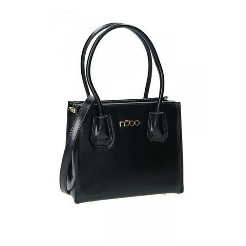 Czarna torba ze skóry ekologicznej - Nobo